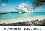 Cruise Ship At The Beach On...