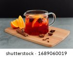 Teapot Of Red Tea With Citruses ...