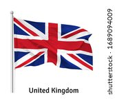 flag of the united kingdom  the ... | Shutterstock .eps vector #1689094009