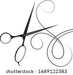 hair stylist scissors...   Shutterstock .eps vector #1689122383