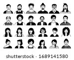 hand drawn set of persons ... | Shutterstock .eps vector #1689141580