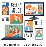 home isolation vector...   Shutterstock .eps vector #1689158170