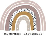 boho nursery rainbow print for... | Shutterstock .eps vector #1689158176
