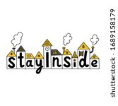 stay inside. covid 19... | Shutterstock .eps vector #1689158179