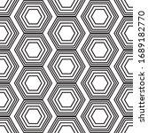 the geometric hexagon black and ... | Shutterstock .eps vector #1689182770