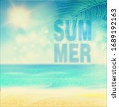 summer. tropical beach... | Shutterstock .eps vector #1689192163