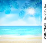 summer. tropical beach... | Shutterstock .eps vector #1689192169
