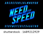 Speed Style Font  Need For...