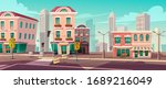 deserted city due to... | Shutterstock .eps vector #1689216049