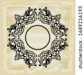 rococo texture pattern vector.... | Shutterstock .eps vector #1689216193