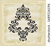 rococo texture pattern vector.... | Shutterstock .eps vector #1689216196