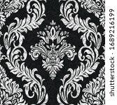 rococo texture pattern vector.... | Shutterstock .eps vector #1689216199
