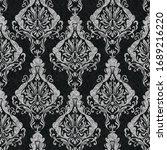rococo texture pattern vector.... | Shutterstock .eps vector #1689216220