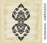 rococo texture pattern vector.... | Shutterstock .eps vector #1689216223
