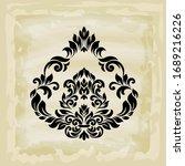 rococo texture pattern vector.... | Shutterstock .eps vector #1689216226