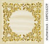 rococo texture pattern vector.... | Shutterstock .eps vector #1689216229