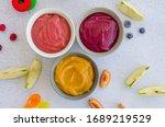 Baby Food. Homemade Fruit Puree....