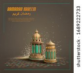 islamic greetings ramadan... | Shutterstock .eps vector #1689222733