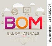 bom mean  bill of materials  ... | Shutterstock .eps vector #1689252709