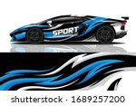 sports car wrapping decal design | Shutterstock .eps vector #1689257200
