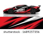sports car wrapping decal design | Shutterstock .eps vector #1689257356