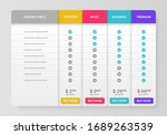 pricing tab. comparison pricing ... | Shutterstock .eps vector #1689263539