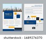 modern business two sided flyer ... | Shutterstock .eps vector #1689276370