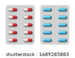 two piece hard capsules in... | Shutterstock .eps vector #1689285883