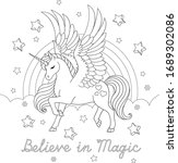 believe in magic text.... | Shutterstock .eps vector #1689302086