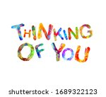 thinking of you. vector... | Shutterstock .eps vector #1689322123