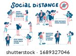 set of schemes of social... | Shutterstock .eps vector #1689327046