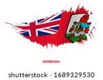 flag of bermuda in grunge style ... | Shutterstock .eps vector #1689329530