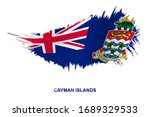 flag of cayman islands in... | Shutterstock .eps vector #1689329533