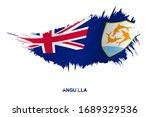 flag of anguilla in grunge... | Shutterstock .eps vector #1689329536