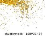 golden glitter frame background | Shutterstock . vector #168933434
