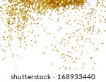 golden glitter frame background | Shutterstock . vector #168933440
