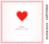valentines day card.    Shutterstock .eps vector #168933860