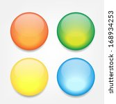 colorful empty glossy icon | Shutterstock .eps vector #168934253