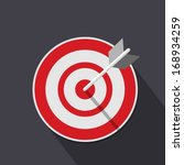 flat target icon | Shutterstock .eps vector #168934259