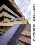fragment of soviet modernism... | Shutterstock . vector #1689362059