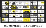 pitch deck template. yellow... | Shutterstock .eps vector #1689384886