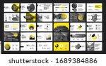pitch deck template. yellow... | Shutterstock .eps vector #1689384886