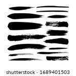 vector grungy paint brush... | Shutterstock .eps vector #1689401503