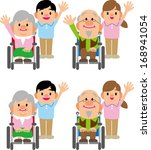 caregiver and the elderly | Shutterstock .eps vector #168941054