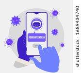 coronavirus around the world.... | Shutterstock .eps vector #1689434740