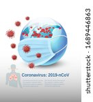 coronavirus background  covid... | Shutterstock .eps vector #1689446863