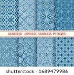 geometric japanese prints.... | Shutterstock .eps vector #1689479986