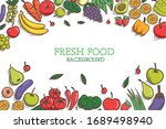 vegetarian and vegan  vegan... | Shutterstock .eps vector #1689498940