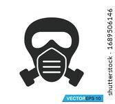 Gas Mask Icon Vector Design...