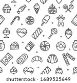 Bakery Signs Seamless Pattern...